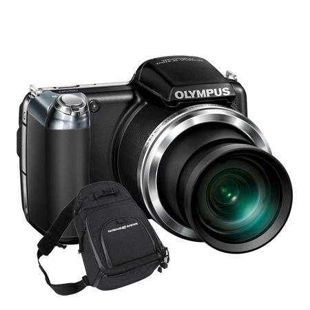 Appareil photo numérique Olympus SP-810UZ Noir + Fourre Tout Appareil photo 14 MP - Zoom 36x - Vidéo HD (garantie constructeur 2 ans)