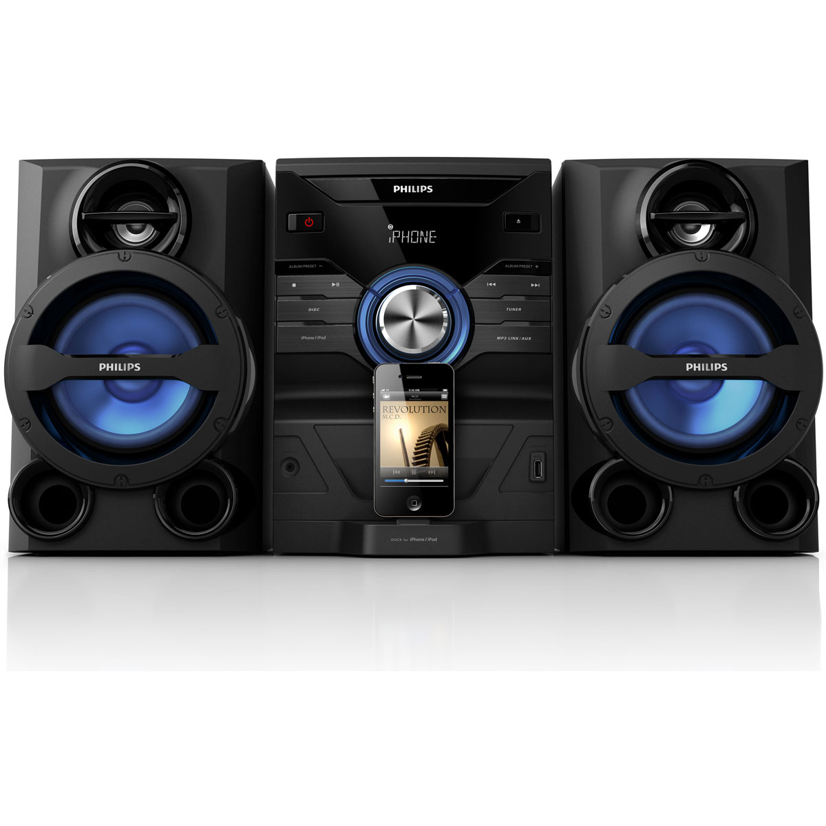 philips fwm200d 12 cha ne hifi philips sur. Black Bedroom Furniture Sets. Home Design Ideas