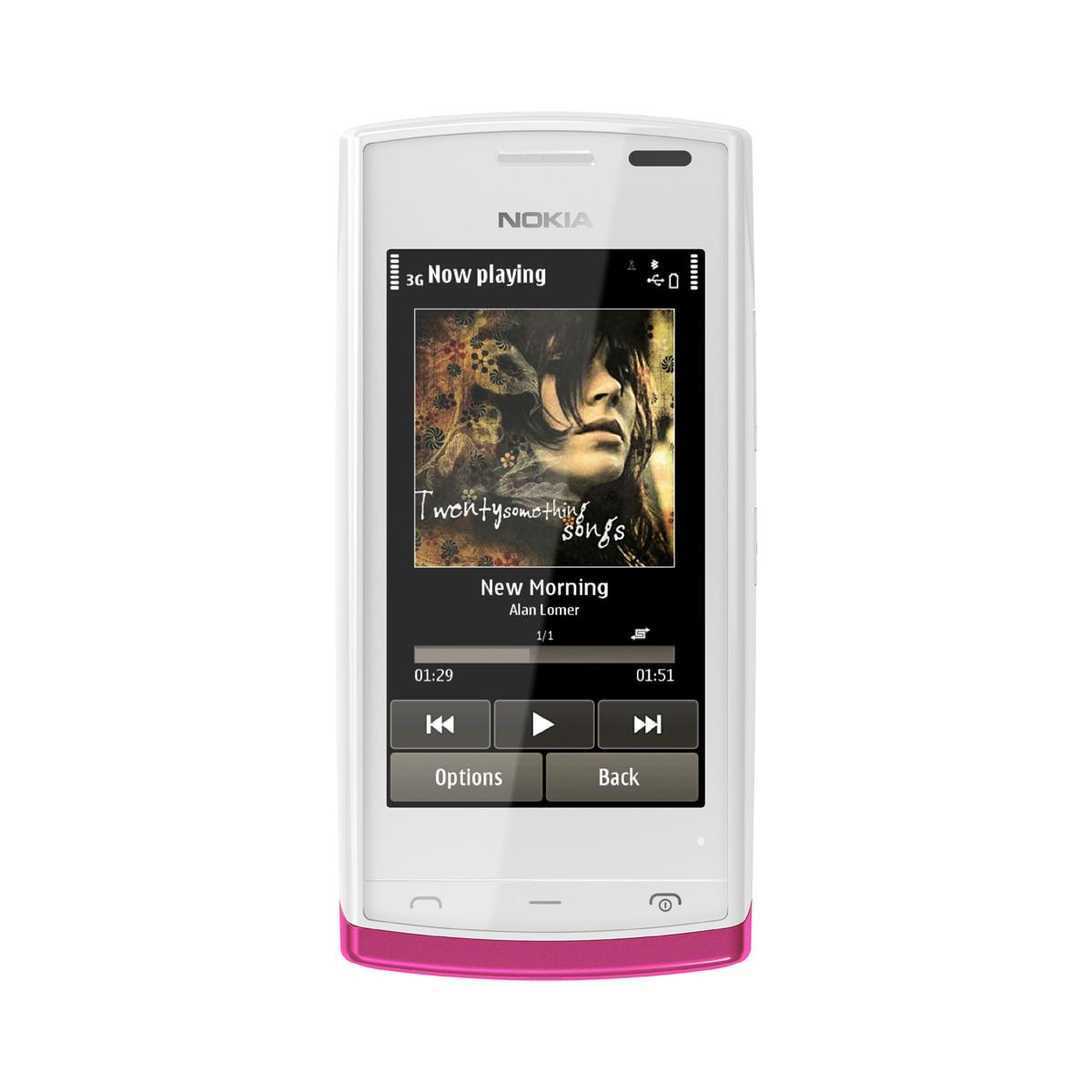 "Mobile & smartphone Nokia 500 Blanc Smartphone 3G+ avec écran tactile 3.2"""