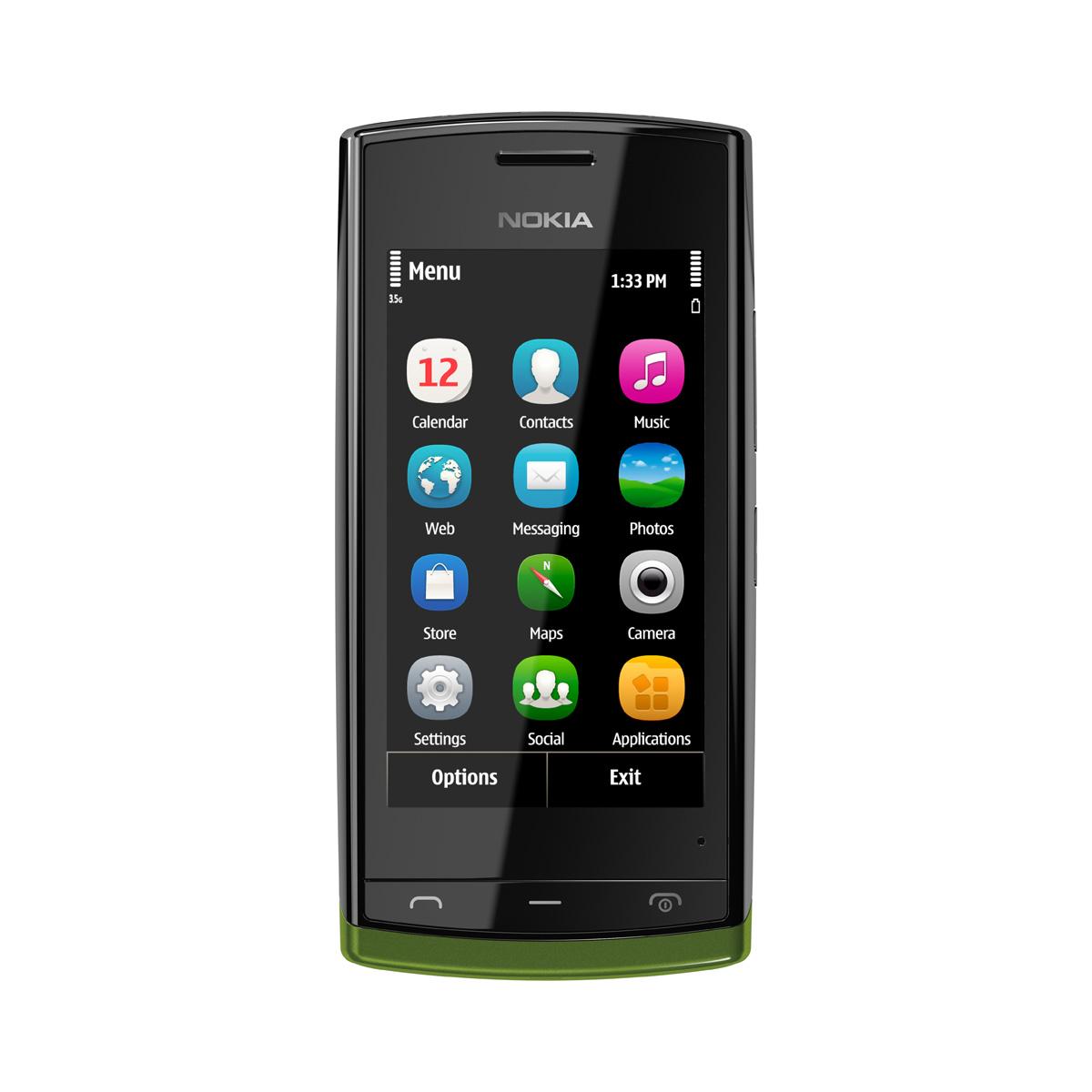 """Mobile & smartphone Nokia 500 Noir Smartphone 3G+ avec écran tactile 3.2"""""""
