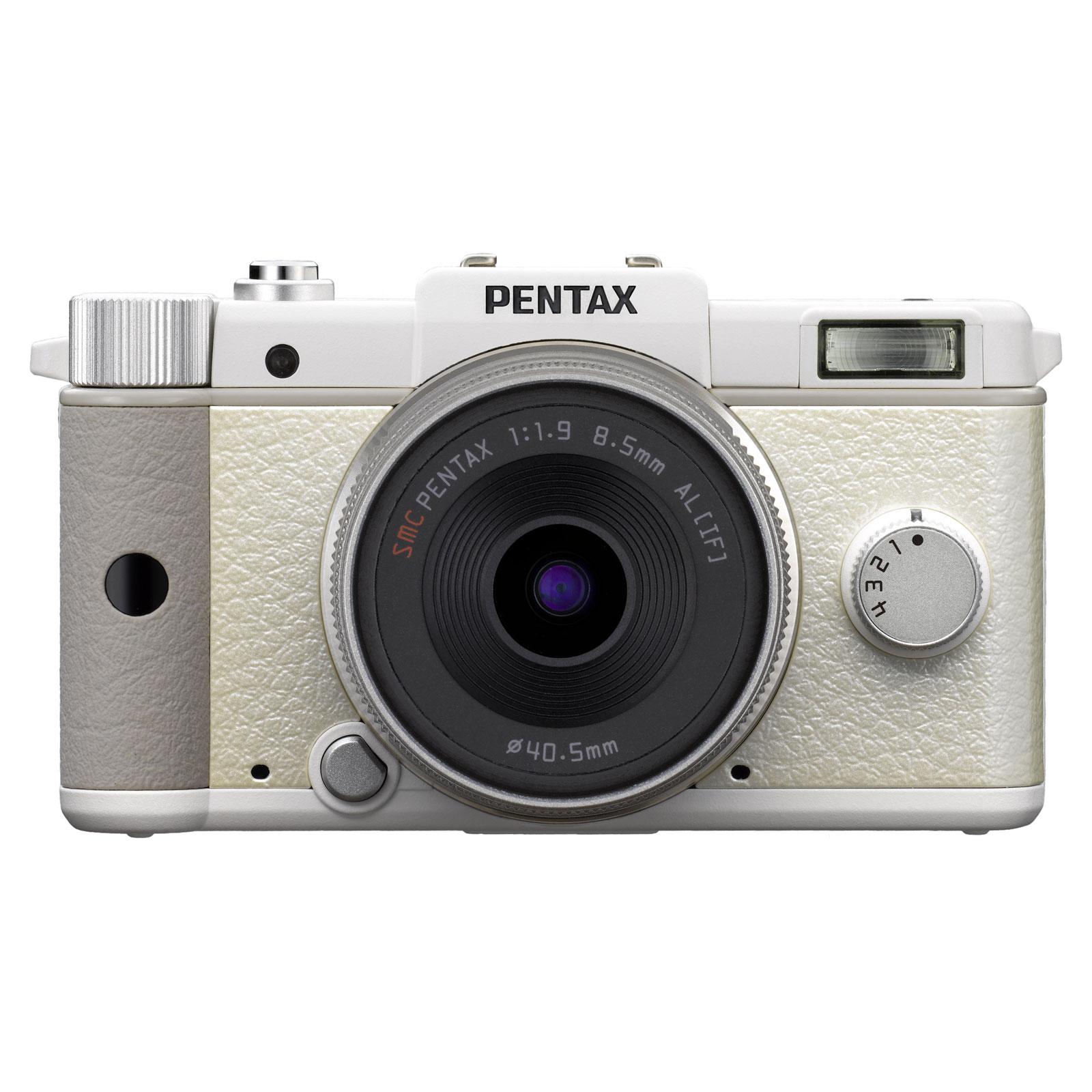 pentax q blanc objectif f 1 9 al appareil photo hybride pentax sur. Black Bedroom Furniture Sets. Home Design Ideas