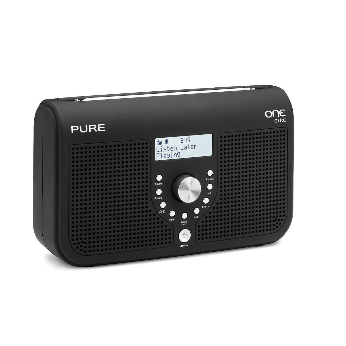 Radio & radio réveil Pure One Elite Series II Noir Radio FM compatible RNT