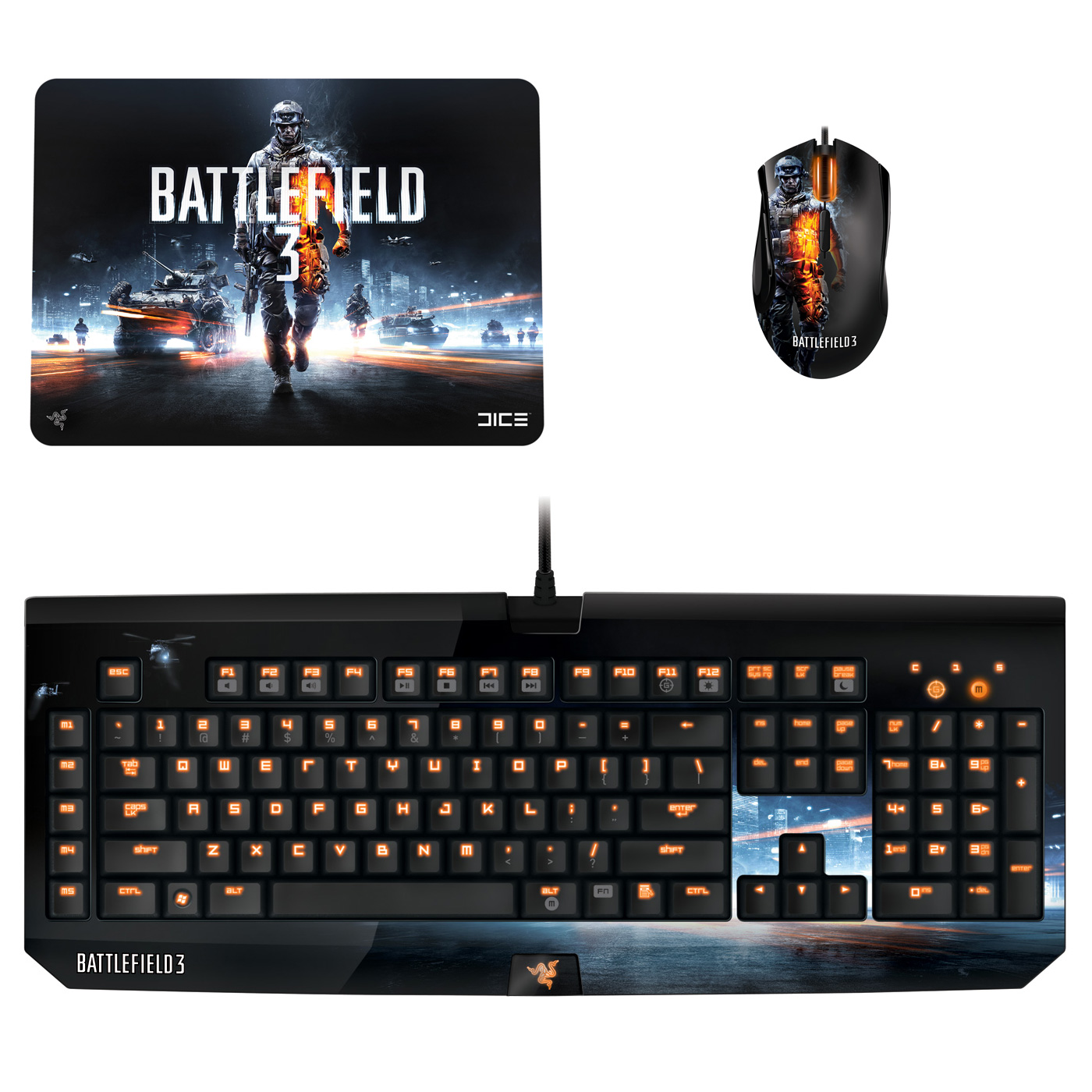 razer battlefield 3 gaming pack pack clavier souris razer sur. Black Bedroom Furniture Sets. Home Design Ideas