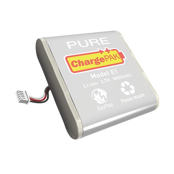 Batterie compatible Pure ChargePAK E1 Batterie radio - voltage 3,7 - type Li-ion - amperage 8800 pour Pure One Flow et One Elite
