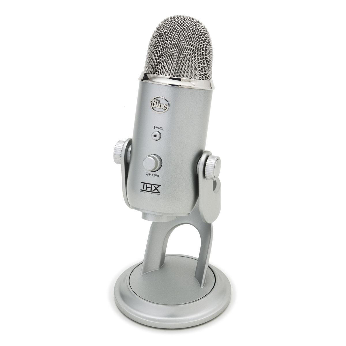 Microphone Blue Microphones Yeti Argent Microphone à directivité multiple