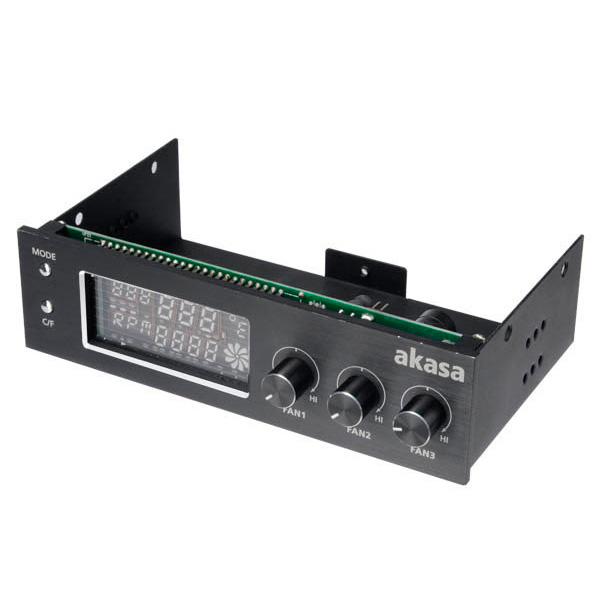 Rhéobus Akasa FC.TRIO Rhéobus avec écran LCD pour 3 ventilateurs - Noir