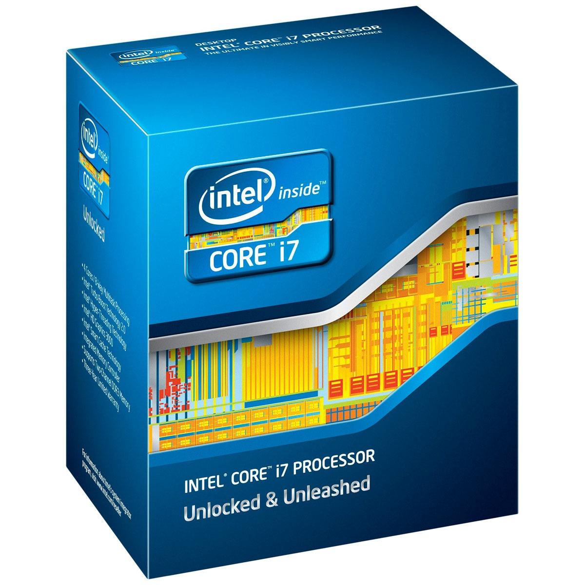 Processeur Intel Core i7-2700K (3.5 GHz) Processeur Quad Core Socket 1155 Cache L3 8 Mo Intel HD Graphics 3000 0.032 micron (version boîte - garantie Intel 3 ans)