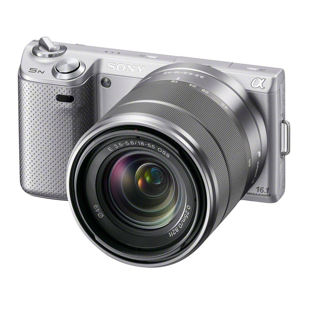 "Appareil photo hybride Sony NEX-5N Argent + Objectif 18-55 mm Appareil photo hybride 16.1 MP - Ecran 3"" - Vidéo HD"