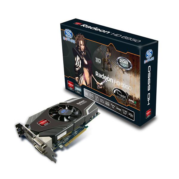 Carte graphique Sapphire Radeon HD 6950 1 Go HDMI/Dual DVI/DisplayPort - PCI Express (AMD Radeon HD 6950)
