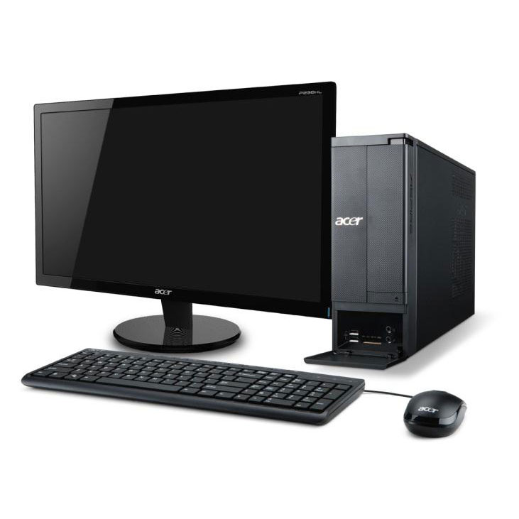 acer aspire x1430 005 pc de bureau acer sur ldlc. Black Bedroom Furniture Sets. Home Design Ideas