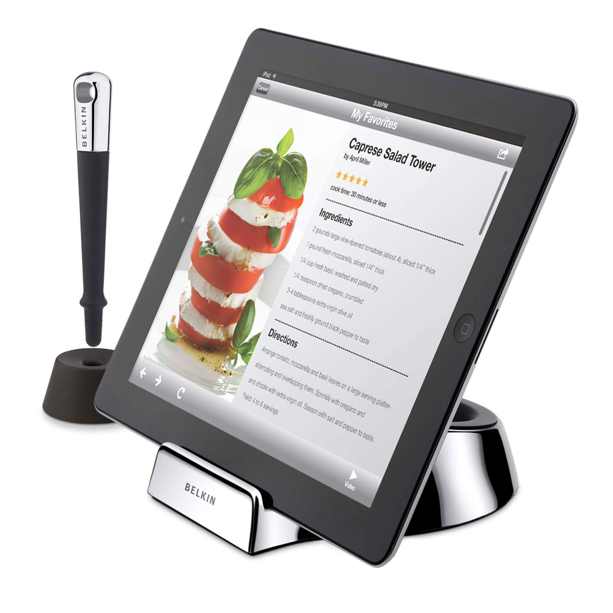 belkin chef stand support tablette belkin sur. Black Bedroom Furniture Sets. Home Design Ideas