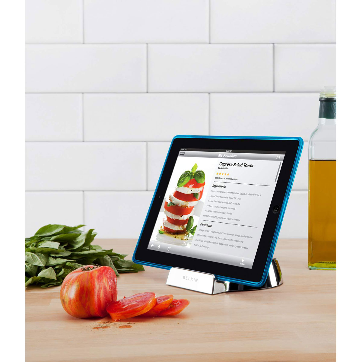 Belkin chef stand support tablette belkin sur for Cuisine 3d sur tablette