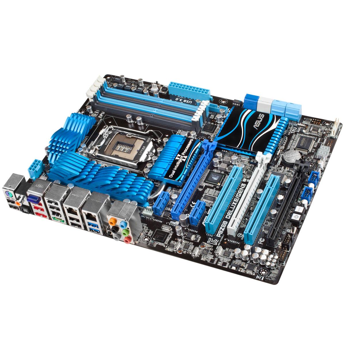 Carte mère ASUS P8Z68 Deluxe GEN 3 Carte mère ATX Socket 1155 Intel Z68 Express - SATA 6 Gbps - USB 3.0 -  2x Gigabit LAN - 2x PCI-Express 3.0 16x