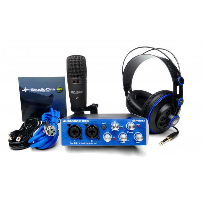 presonus audiobox studio audiobox usb casque hd7 micro m7 c bles interface audio. Black Bedroom Furniture Sets. Home Design Ideas