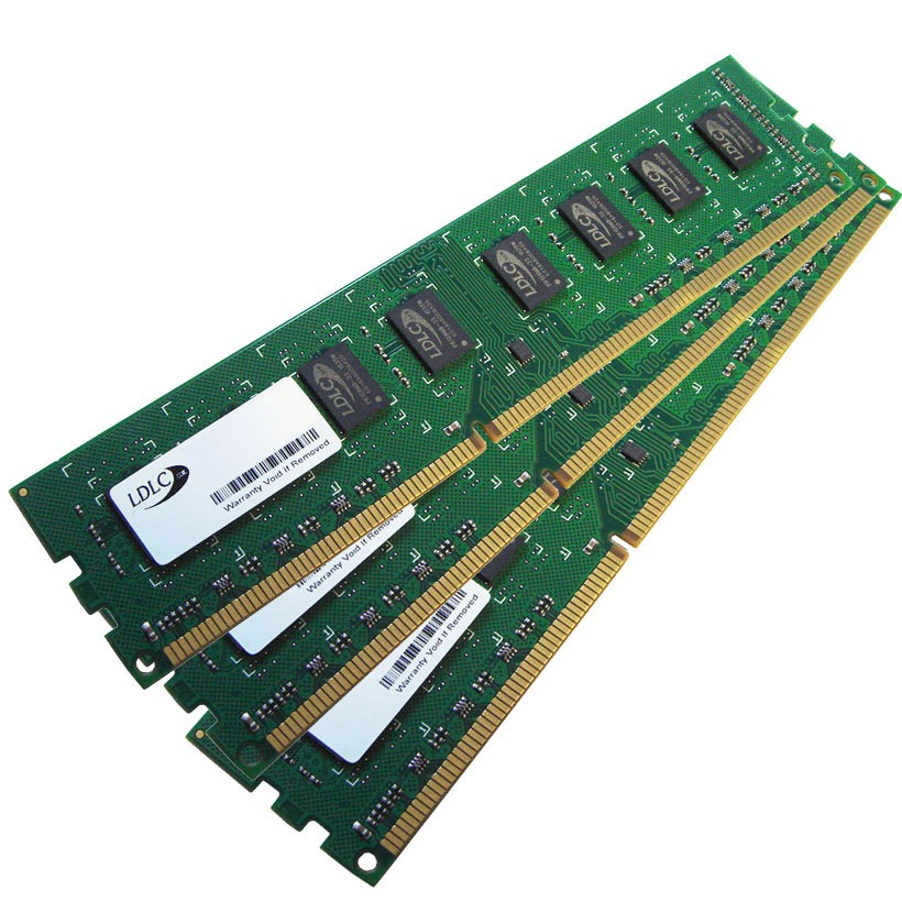 Mémoire PC LDLC 6 Go (3x 2 Go) DDR3 1600 MHz CL11 Kit Triple-Channel RAM DDR3 PC12800 1.35V/1.5V