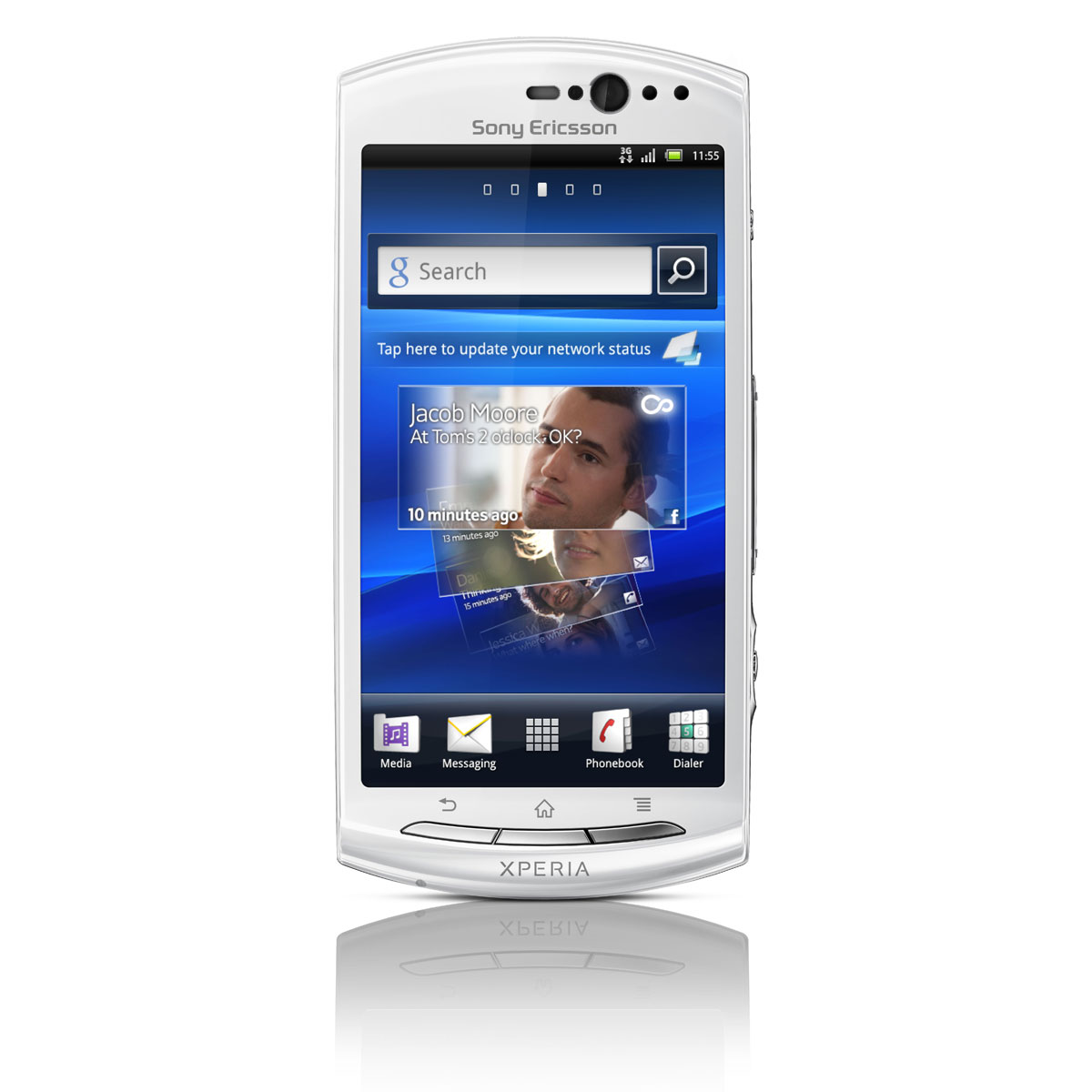 """Mobile & smartphone Sony Ericsson Xperia Kyno V Blanc Smartphone 3G+ avec écran tactile 3.7"""" sous Android 2.3"""