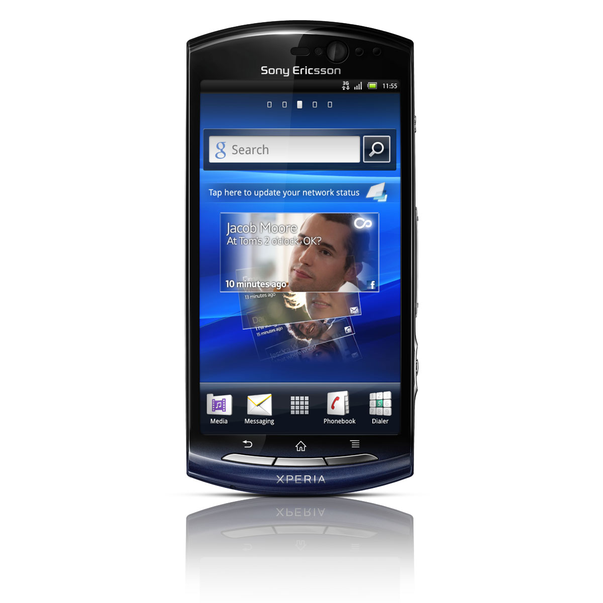 """Mobile & smartphone Sony Ericsson Xperia Kyno V Midnight Blue Smartphone 3G+ avec écran tactile 3.7"""" sous Android 2.3"""