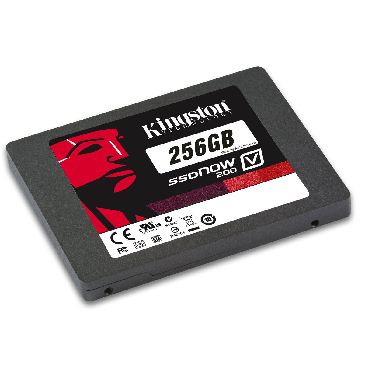 "Disque SSD Kingston SSDNow V200 Series 256 Go SSD 128 Go 2.5"" 9.5mm Serial ATA 6Gb/s"