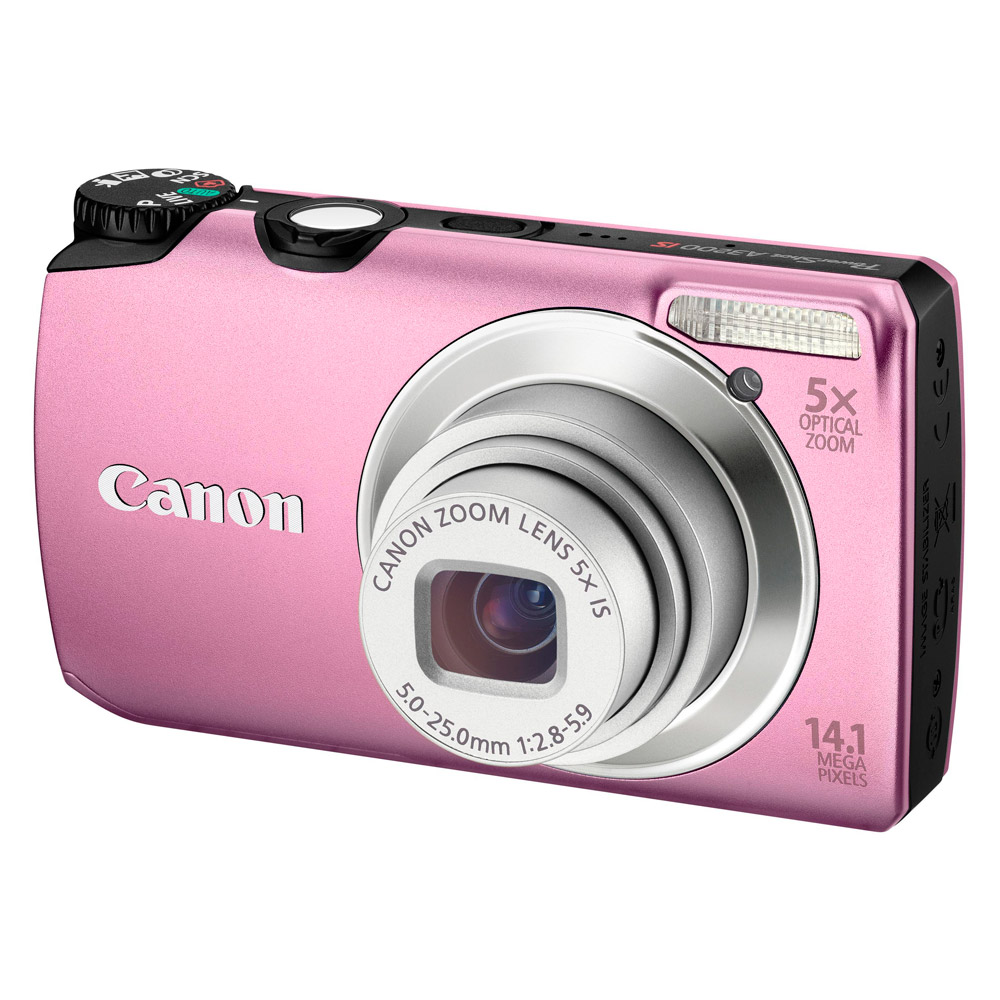 Appareil photo numérique Canon Powershot A3200 IS Rose Canon Powershot A3200 IS Rose - Appareil photo 14.1 MP - Zoom 5x - Vidéo HD