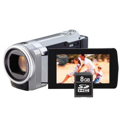 Caméscope numérique JVC GZ-HM446 Argent Caméscope Full HD Carte mémoire avec Carte SD 8 Go