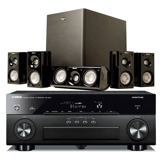 yamaha rx a810 noir klipsch hd theater 500 ensemble home cin ma yamaha sur. Black Bedroom Furniture Sets. Home Design Ideas