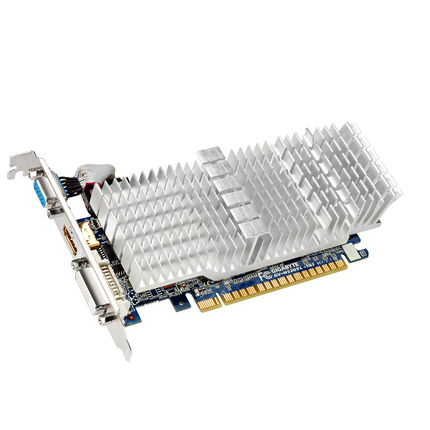 Carte graphique Gigabyte GV-N520SL-1GI 1 Go DVI/HDMI - PCI Express (NVIDIA GeForce avec CUDA GT 520)