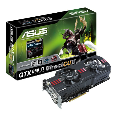 Carte graphique ASUS ENGTX560 Ti448 DCII 2DIS/1280MD5 1280 Mo Dual DVI/HDMI/DisplayPort - PCI Express (NVIDIA GeForce avec CUDA GTX 560 Ti 448 Core)