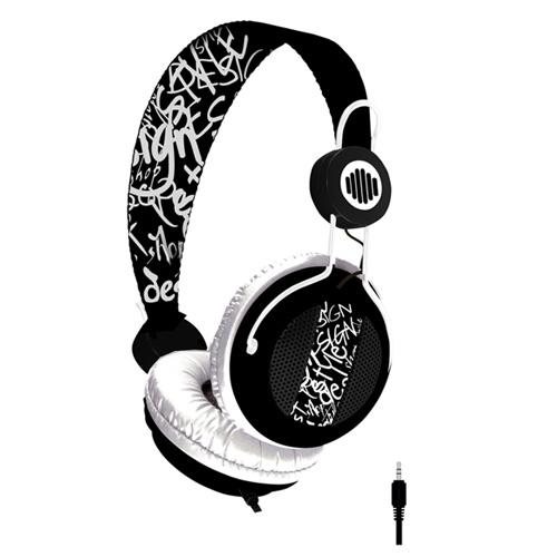 Dessin Casque Audio b-move casque soundwave noir & blanc - casque b-move sur ldlc