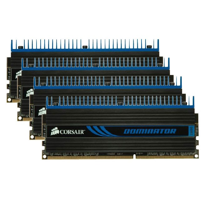 Mémoire PC Corsair Dominator 32 Go (4 x 8 Go) DDR3 1600 MHz CL10 Kit Quad Channel DDR3 PC12800 - CMP32GX3M4X1600C10 (garantie à vie par Corsair)