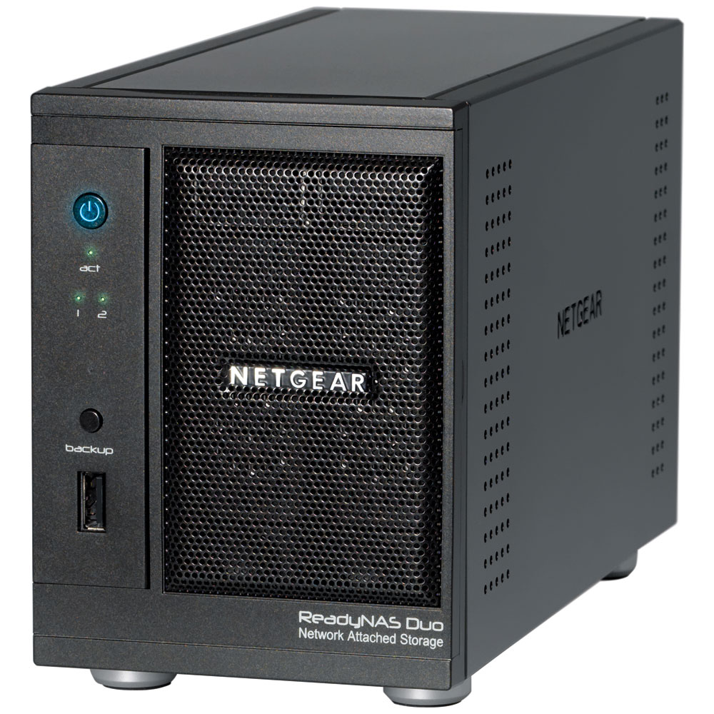 Serveur NAS Netgear ReadyNAS Duo V2 4 To (2 x 2 To) Serveur NAS multimédia 2 baies