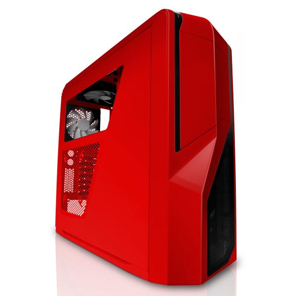 Boîtier PC NZXT Phantom 410 (rouge) - Edition USB 3.0 Boîtier Moyen Tour pour gamer avec fenêtre