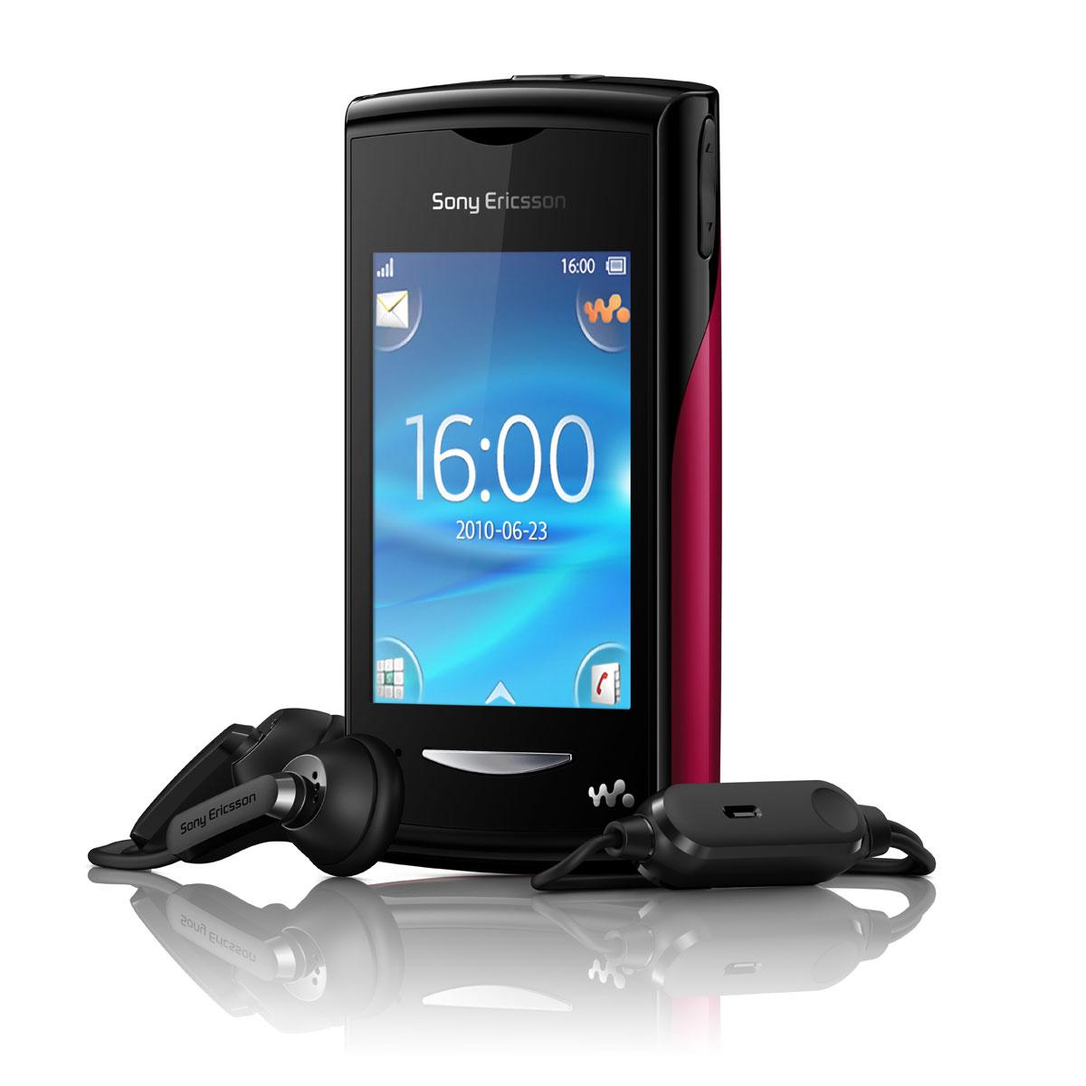 sony ericsson yendo w150 noir rouge mobile smartphone sony ericsson sur. Black Bedroom Furniture Sets. Home Design Ideas