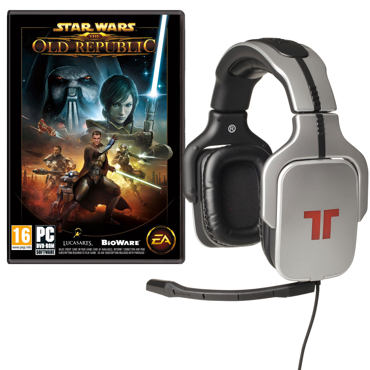 Micro-casque gamer Tritton AX Pro + Star Wars : The Old Republic Casque-micro pour gamer (compatible PC / MAC / PS3 / XBOX 360) + Star Wars : The Old Republic (PC)