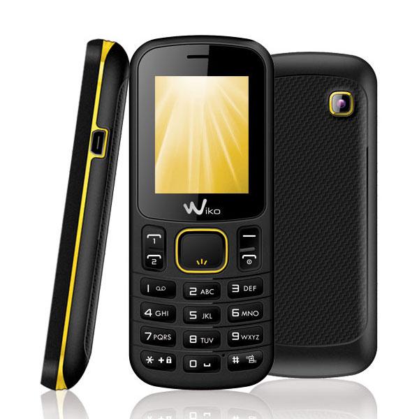 Mobile & smartphone Wiko Lubi B1020 Noir & Jaune Téléphone 2G avec 2 ports pour cartes SIM