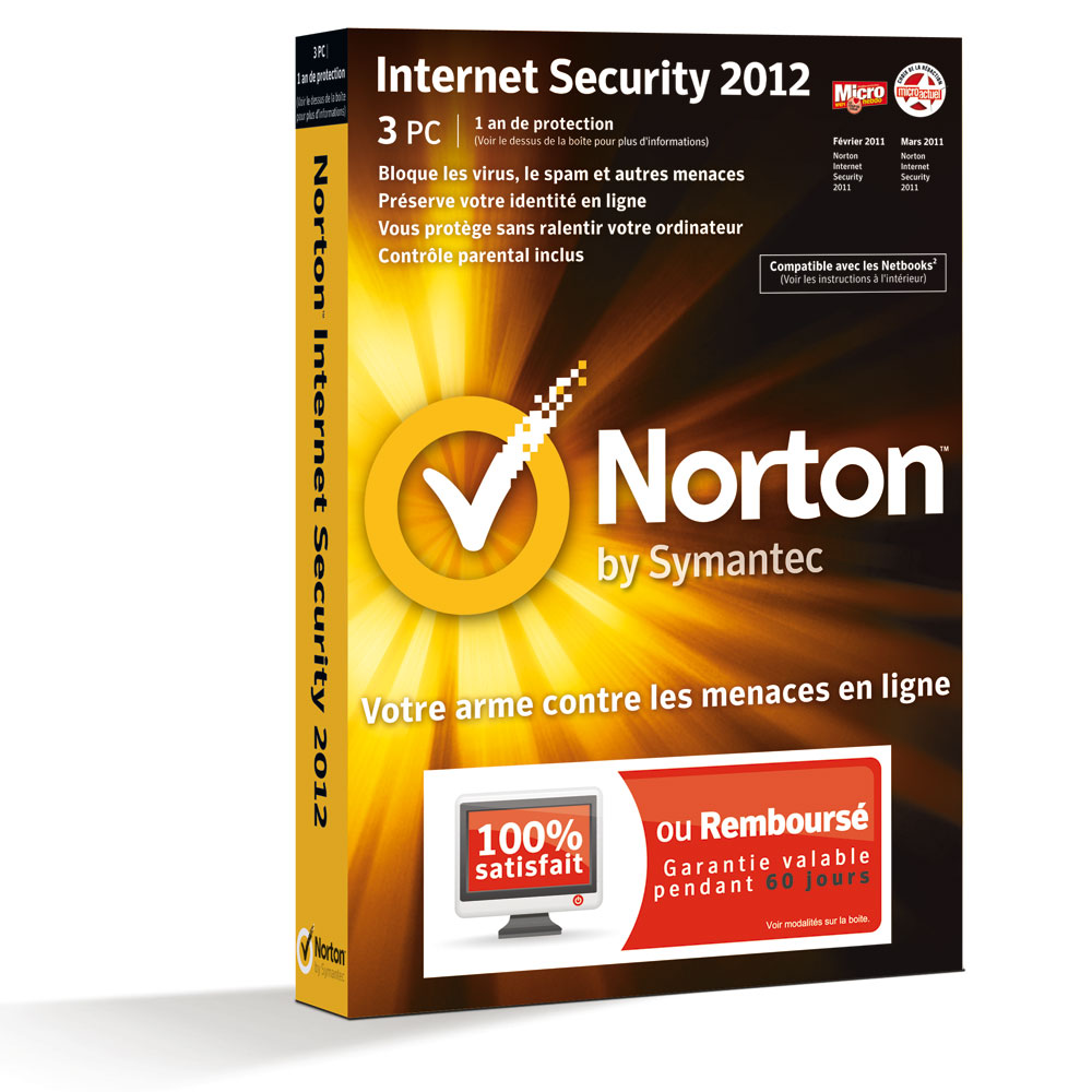 norton internet security 2012 1 an 3 pc logiciel s curit symantec sur. Black Bedroom Furniture Sets. Home Design Ideas