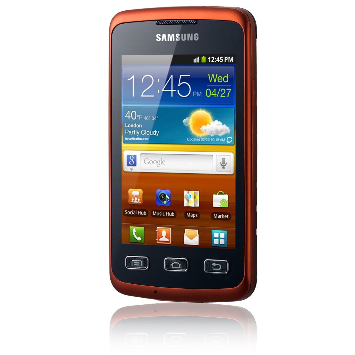 samsung galaxy xcover gt s5690 orange mobile. Black Bedroom Furniture Sets. Home Design Ideas