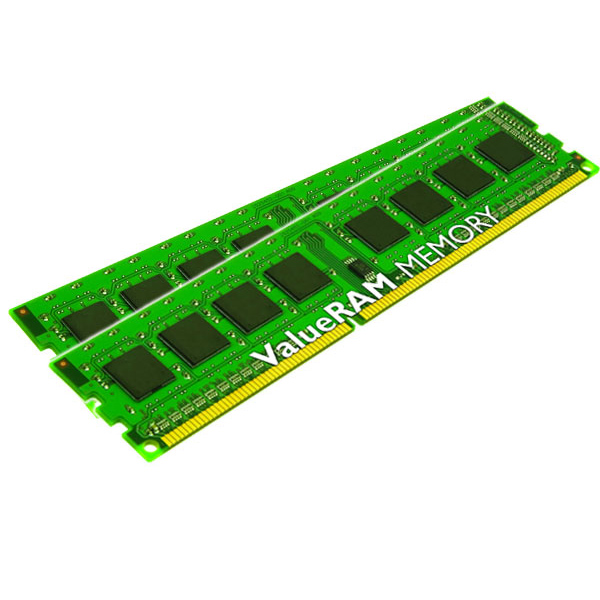 Mémoire PC Kingston ValueRAM 4 Go (2 x 2 Go) DDR3 1066 MHz CL7 Kit Dual Channel DDR3 PC3-8500 CL7 - KVR1066D3S8N7K2/4G (garantie à vie par Kingston)
