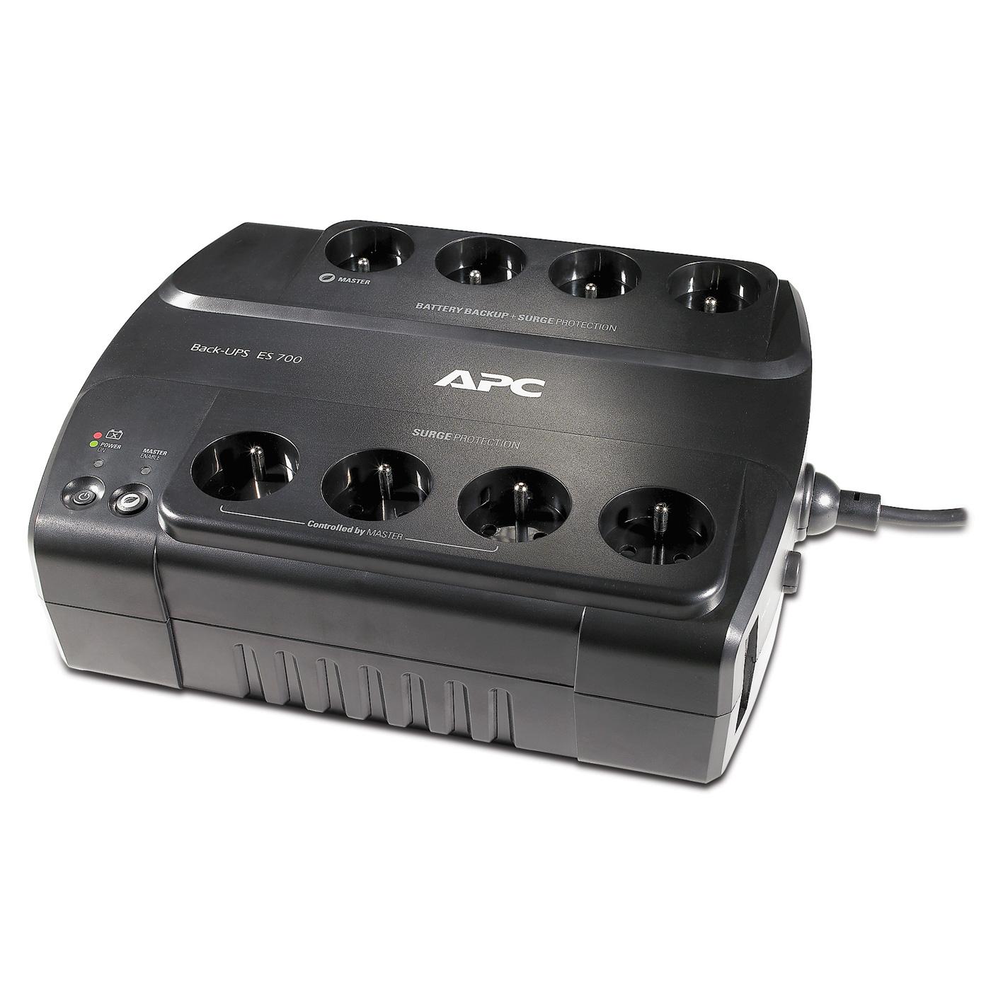Onduleur APC Back-UPS ES 700VA (BE700G-FR) Onduleur off-line monophasé 230V (USB)