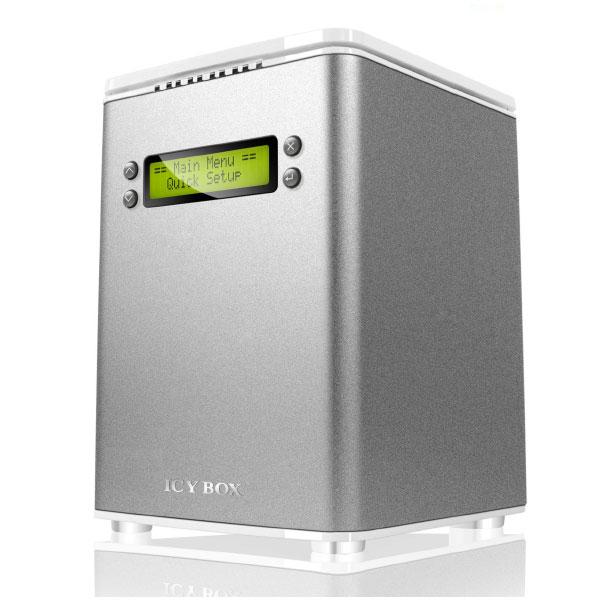"Boîtier disque dur ICY BOX IB-RD3264+USE2 Boîtier externe 3""1/2 sur port USB 2.0 / eSATA II / FireWire 400 / FireWire 800"