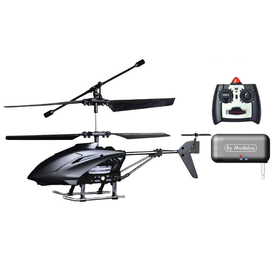 Accessoires divers smartphone Modelco Digicoptère Noir Hélicoptère Radiocommandé piloté via Smartphone