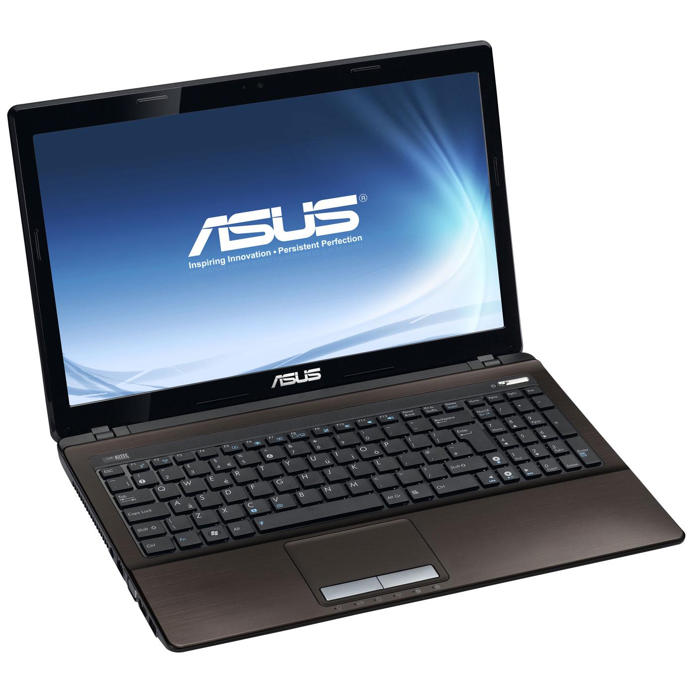 """PC portable ASUS K53SD-SX163V Marron Intel Core i5-2450M 4 Go 750 Go 15.6"""" LED NVIDIA GeForce GT 610M Graveur DVD Wi-Fi N/Bluetooth Webcam Windows 7 Premium 64 bits (garantie constructeur 2 ans)"""