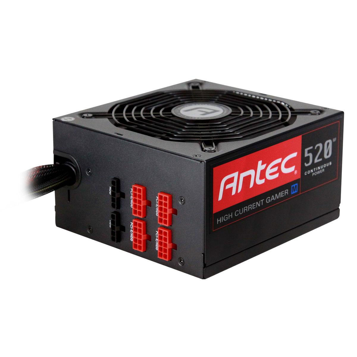 Alimentation PC Antec High Current Gamer 520M 80PLUS Bronze Alimentation modulaire 520 Watts ATX12V 2.3 80 PLUS Bronze (garantie 5 ans par Antec)