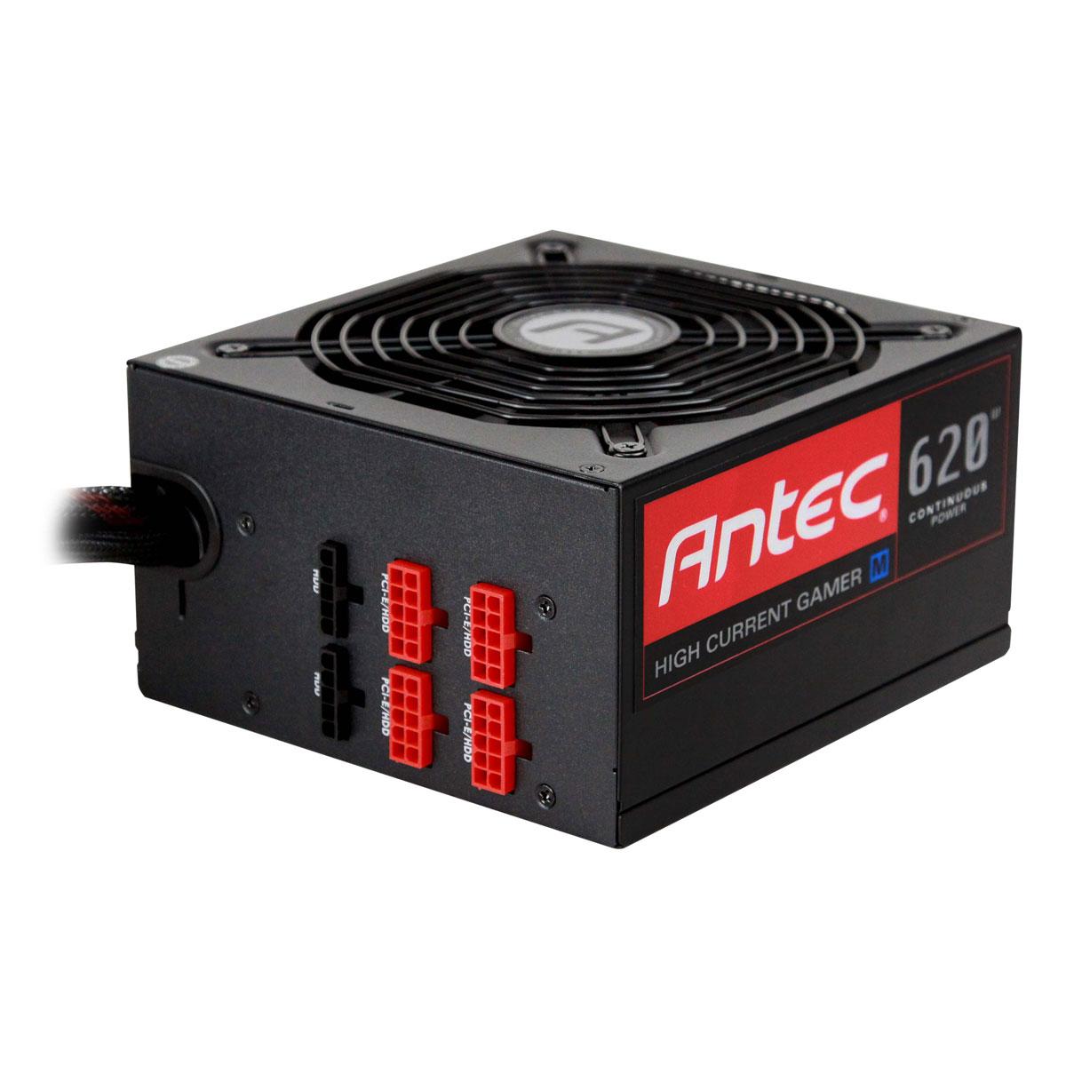 Alimentation PC Antec High Current Gamer 620M 80PLUS Bronze Alimentation modulaire 620 Watts ATX12V 2.3 80 PLUS Bronze (garantie 5 ans par Antec)
