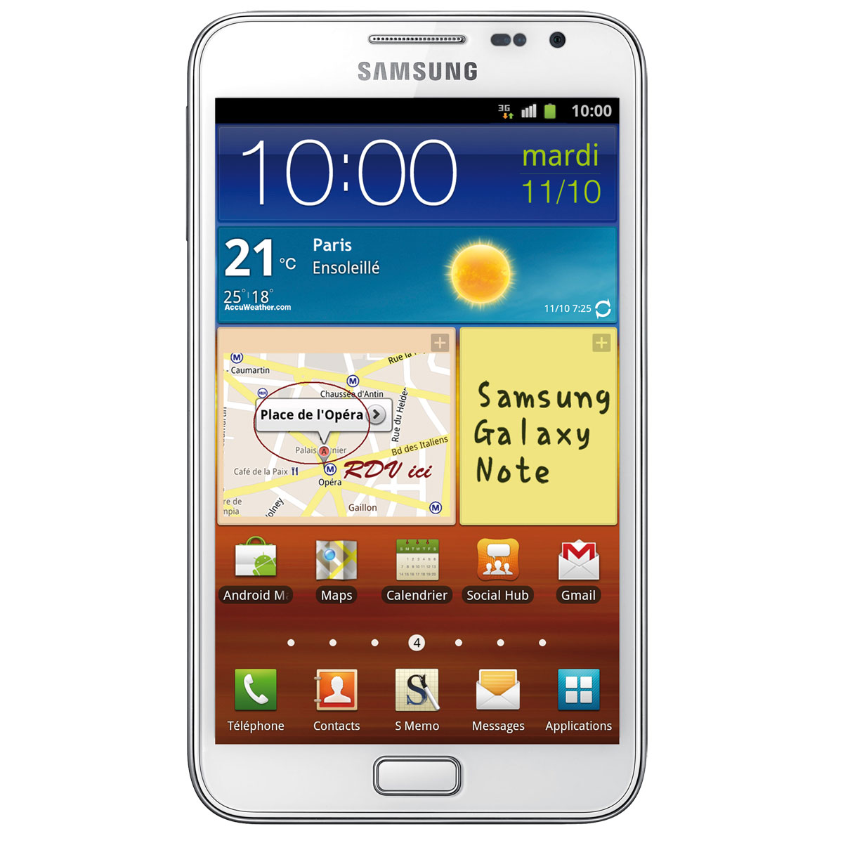samsung galaxy note gt n7000 blanc mobile smartphone samsung sur. Black Bedroom Furniture Sets. Home Design Ideas
