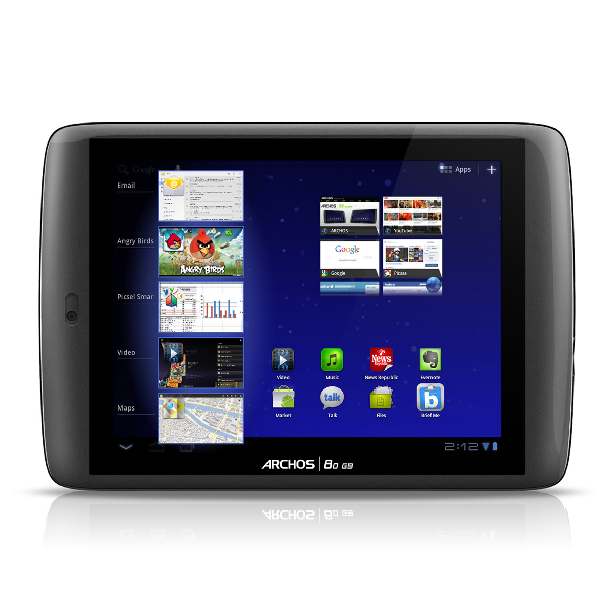 """Tablette tactile Archos 80 G9 Turbo 250 Go Tablette Internet - OMAP 4 Smart multi-core 1.2 GHz 250 Go 8"""" LCD tactile Wi-Fi N/Bluetooth Webcam Android 3.2"""