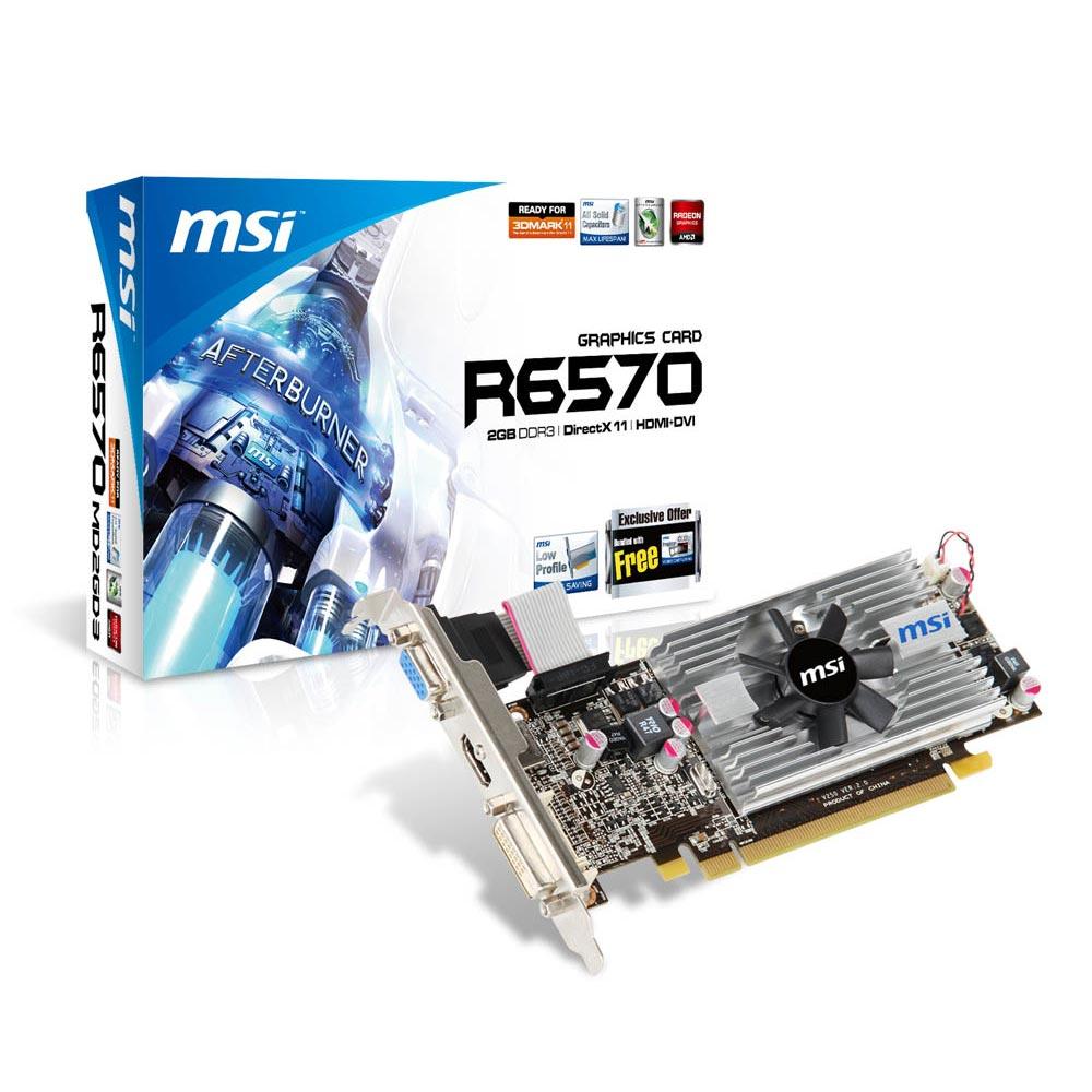 Carte graphique MSI R6570-MD2GD3/LP 2 Go 2 Go HDMI/DVI - PCI Express (AMD Radeon HD 6570)