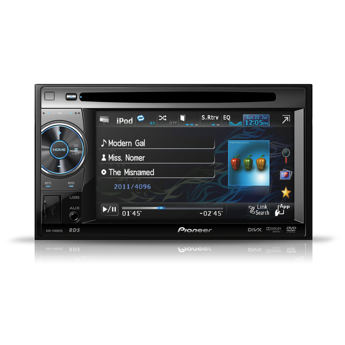 pioneer avh 1400dvd autoradio pioneer sur. Black Bedroom Furniture Sets. Home Design Ideas