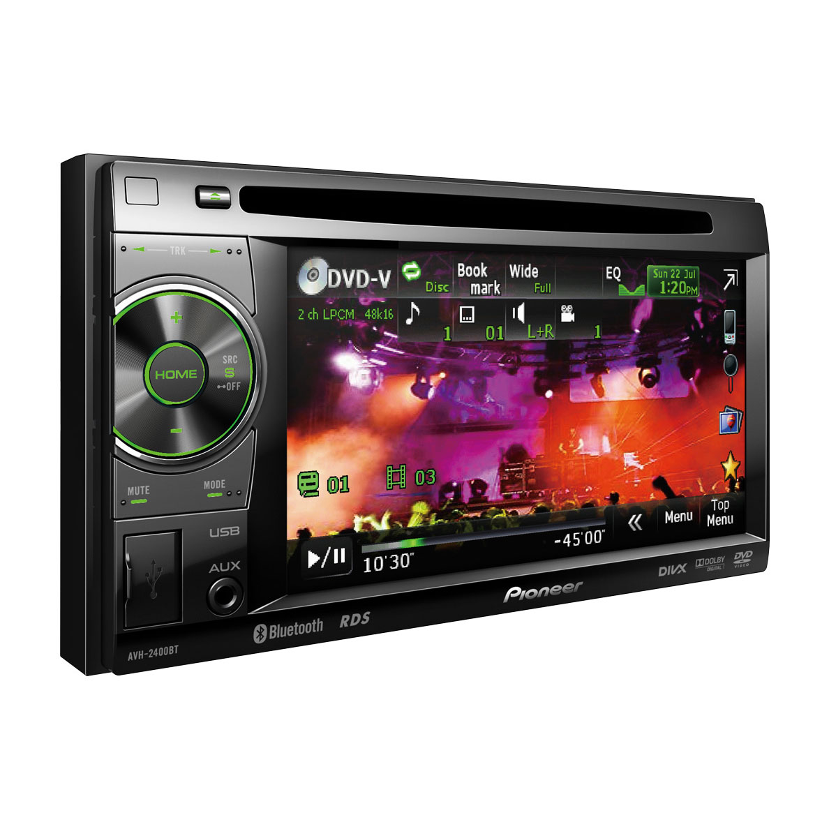 pioneer avh 2400bt autoradio pioneer sur. Black Bedroom Furniture Sets. Home Design Ideas