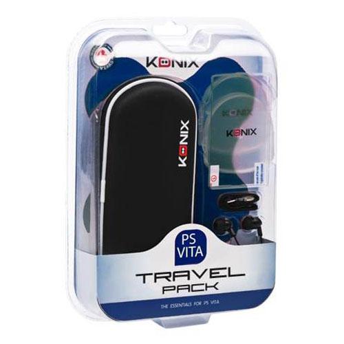 Accessoires PS Vita Konix Travel Pack (PS Vita) Housse + Ecouteurs + Film de protection + 2 boites de rangement + allume-cigare + dragonne pour PS Vita