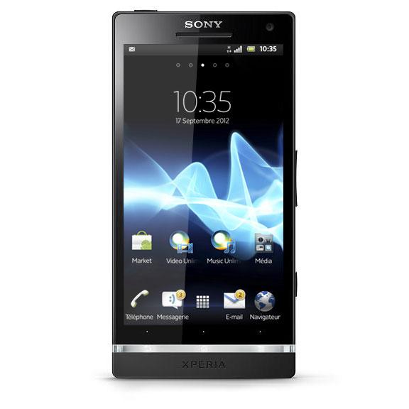 """Mobile & smartphone Sony Xperia S Noir Smartphone 3G+ avec écran tactile HD 4.3"""" sous Android 2.3.7"""